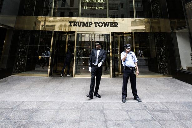 Ronaldo's Apartment in Trump Tower Entrance