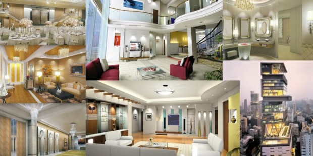 Exterior and Interior of Mukesh Ambani's House