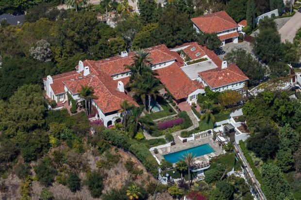 Aerial view of Jeff Bezos Mansion