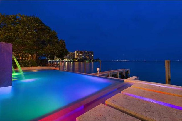 Infinity pool in mansion