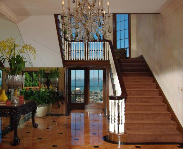 Great Interior and a beautiful stair case