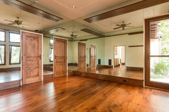 A room in his California house