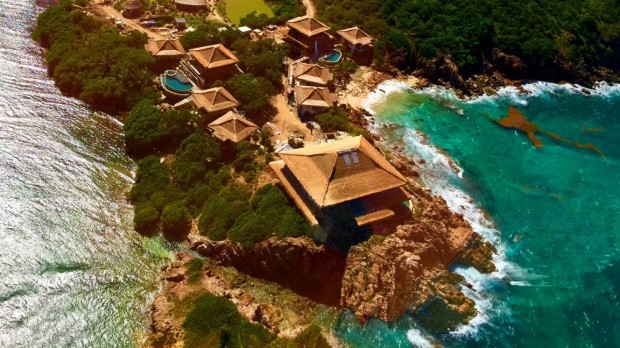Richard Branson's House in his Moskito Island