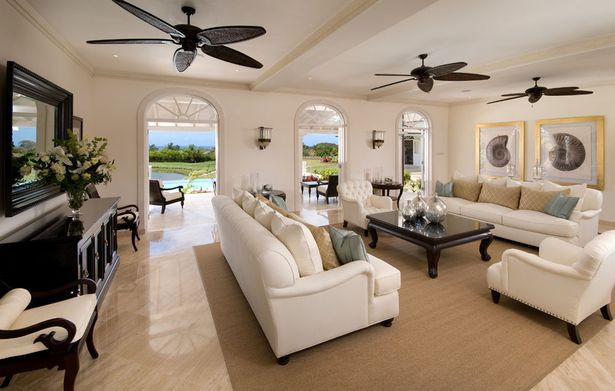 Living room in his Barbados House