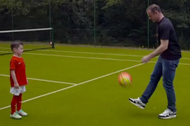 Rooney has tennis court in the house. He will use for football practice too