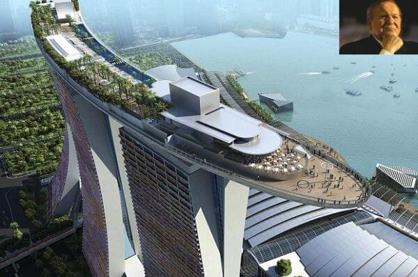 Marina Bay Sands Resort owned by Sheldon Adelson