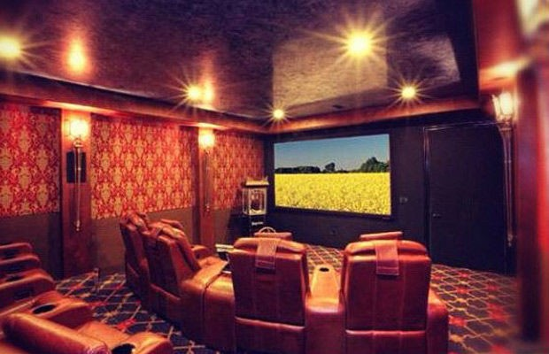 Home Theater in Tyga's House