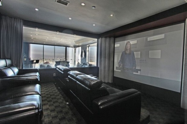 Home Theater in Sunsetr Strip Mansion