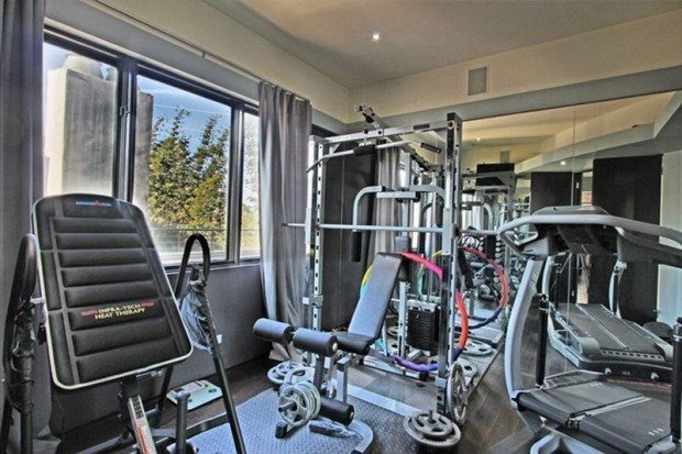 Gym in His Mansion that he rented