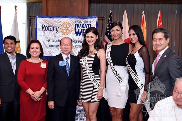 Pia at The Rotary Club of Makati West