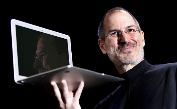 Steve Jobs with Apple PC