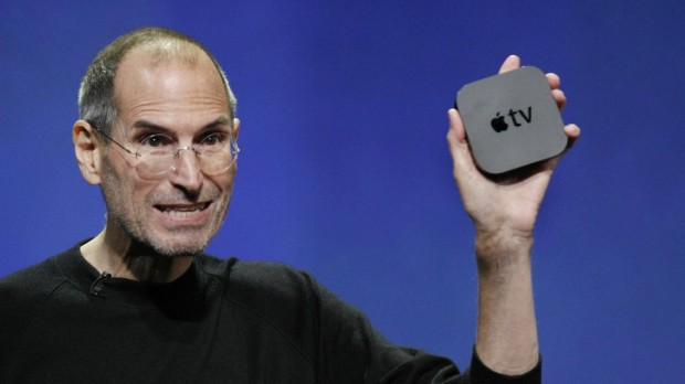 Steve Jobs with Apple TV