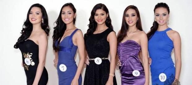 Anabel Christine G. Tia, Aiza Faeldonia , Pia Alonzo Wurtzbach , Joy Antonette Diaz with Shauna Indra Salina Curran