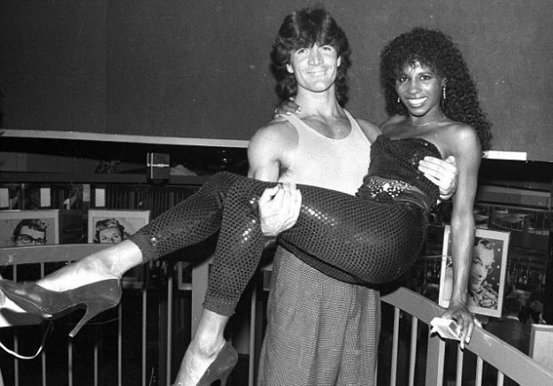 Simon Cowell With Sinitta - 1986