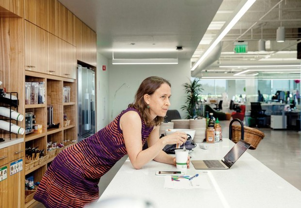 Anne Wojcicki at 23andMe office in Mountain View, California