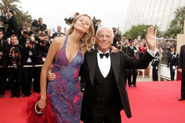 Giorgio Armani with Lara Fabian at the 57th Cannes Film Festival