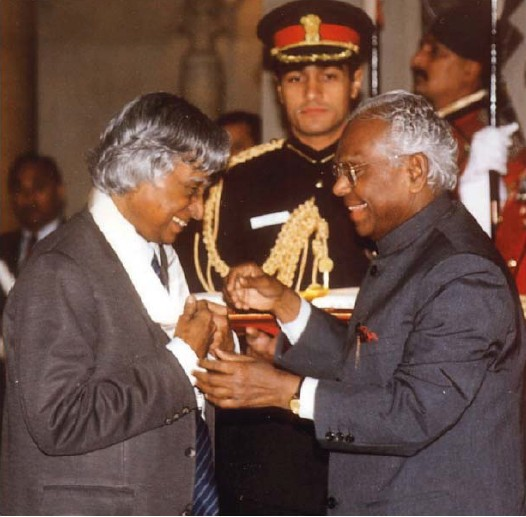 Abdul Kalam Receiving Bharatha Ratna
