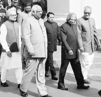 Abdul Kalam Walking as President