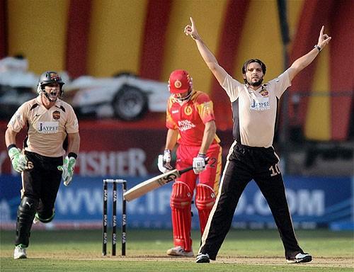 Afridi during IPL