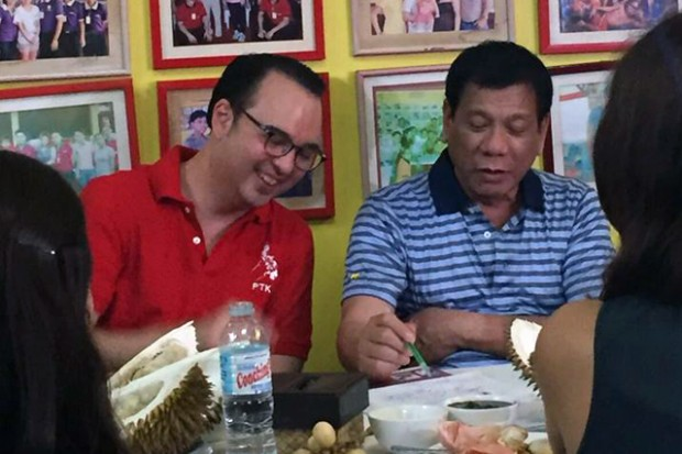 Mayor Rody with Alan Peter Cayetano