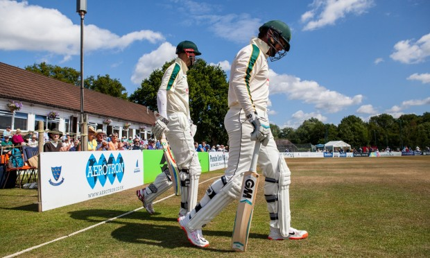 Brendan Taylor and Alex Hales come out to play Sussex at Horsham
