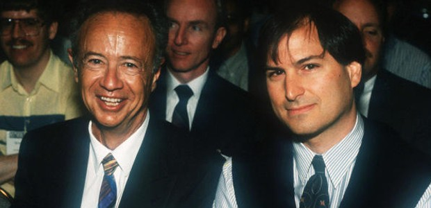 Andy Grove with Steve Jobs