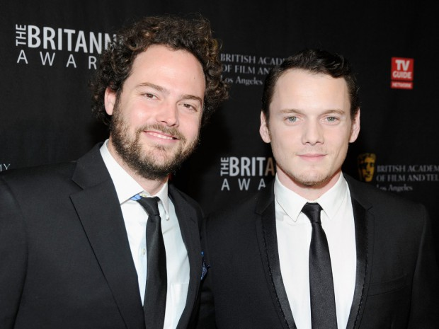 Anton Yelchin and Drake Doremus at an event