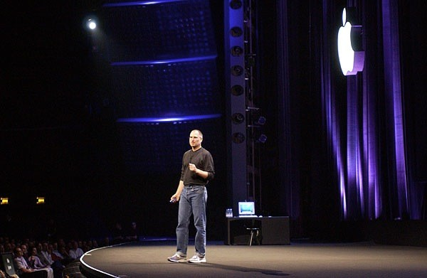 Steve Jobs during Apple Expo 2003