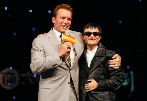 Arnold Schwarzenegger and Jack Ma