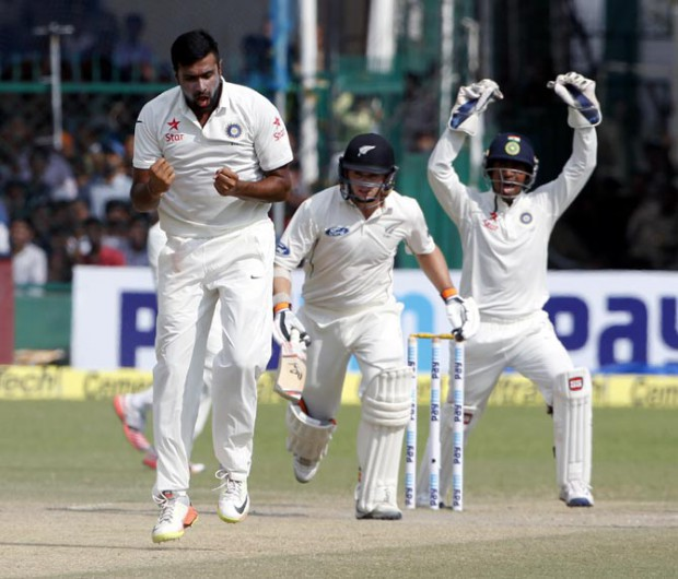 Ashwin's Celebrations after he getting his 200th Wicket in Tests. He is the Second Fastest Person who took 200 Wickets(37 Tests)