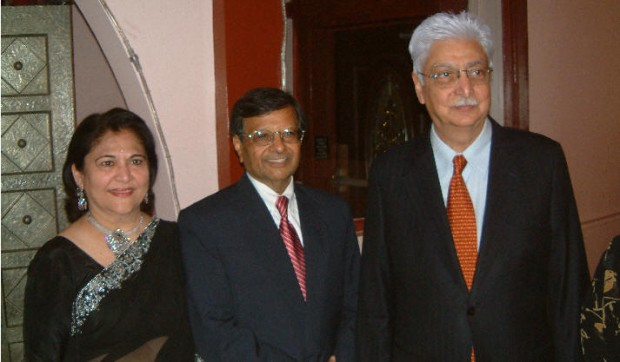 Azim Premji with Dr. Sheth Family