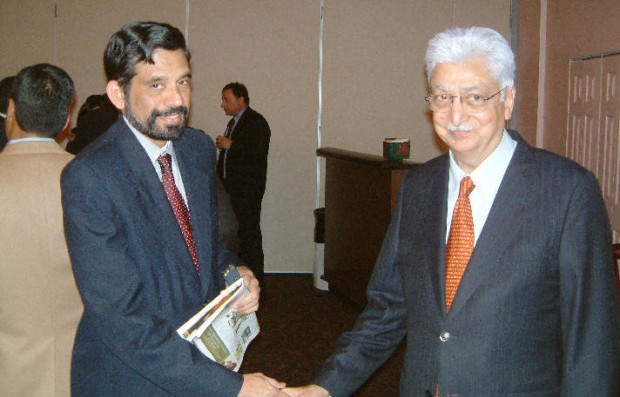 Ravi R. Ponangi with Azim Premji