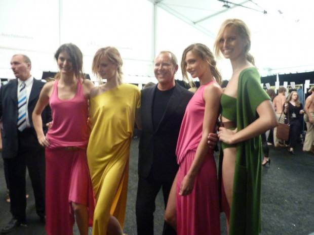 Michael Kors at Backstage of the Spring 2011 show