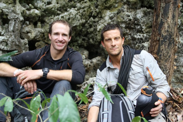 Drew Brees and Bear Grylls