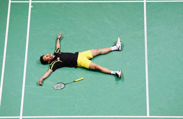 Lee After Winning Semi Final Match in Beijing Olympics