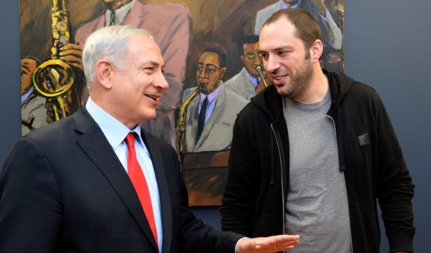 Israeli Prime Minister Benjamin Netanyahu  with Jan Koum