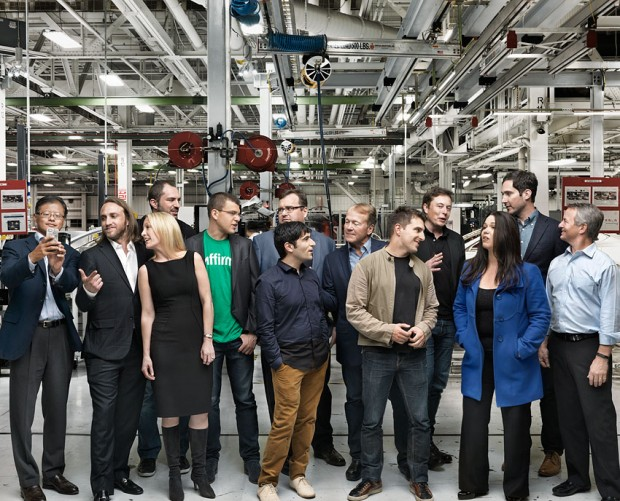 Jan Koum with Other Billionaires during Sequoia Photoshoot