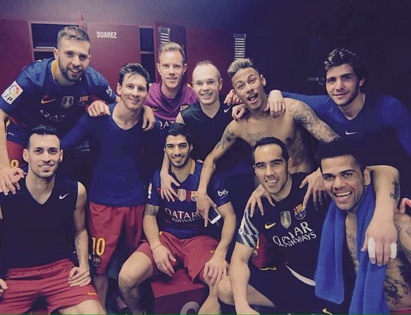 Claudio with Barcelona Teammates