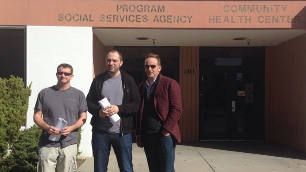Jan Koum with Brian Action and Jim Goetz