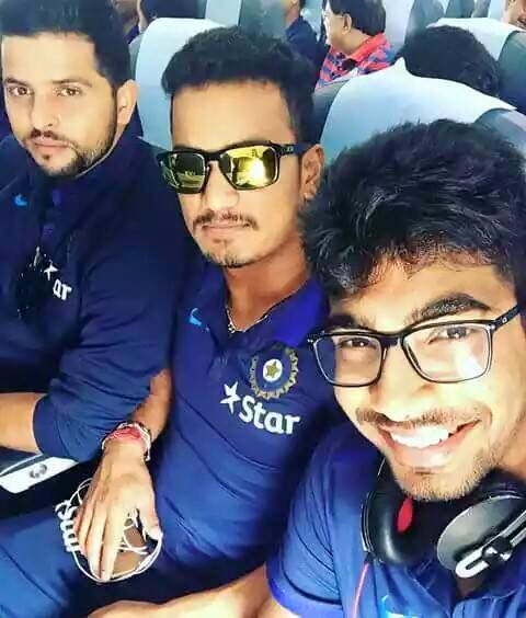 Bumrah Posing For a Selfie