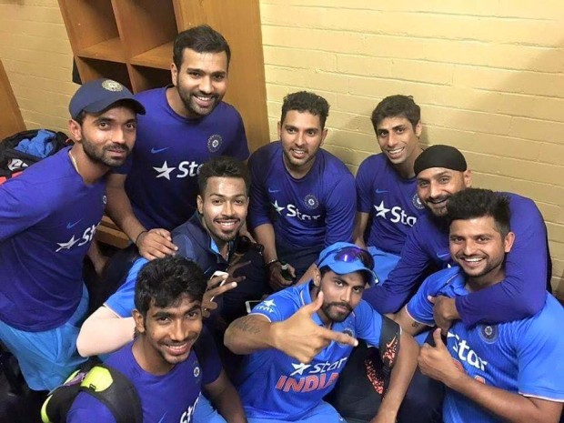 Bumrah with Other Indian Players
