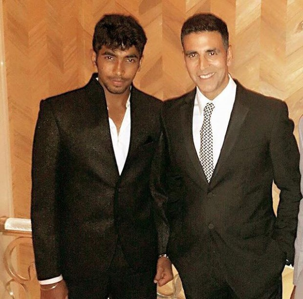 Bumrah With Indian Actor Akshay Kumar