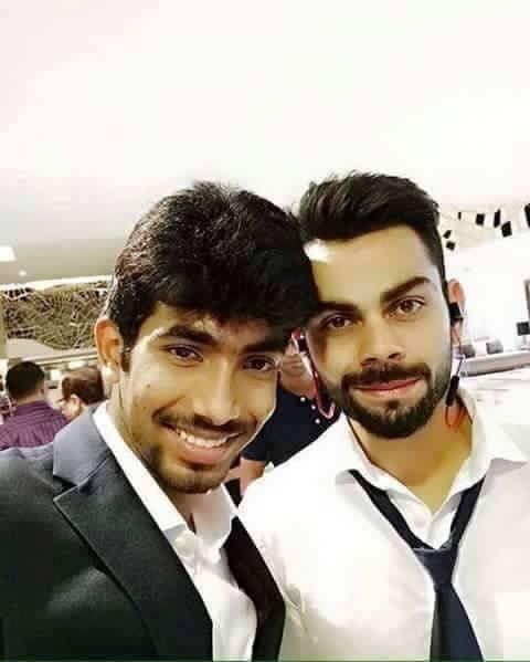 Jasprit Bumrah with Virat Kohli