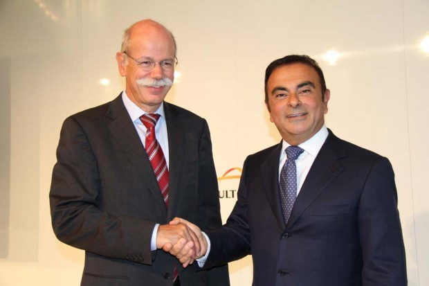Dieter Zetsche with Carlos Ghosn