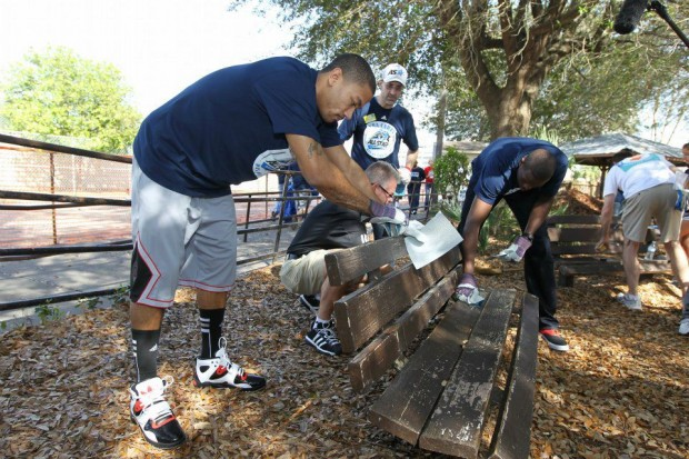 Derrick Rose during Day of Service