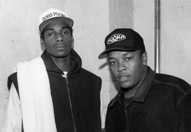 Dr Dre with Snoop Dogg