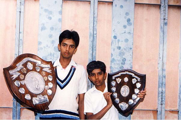 Dravid with Ranji Trophy in 1991