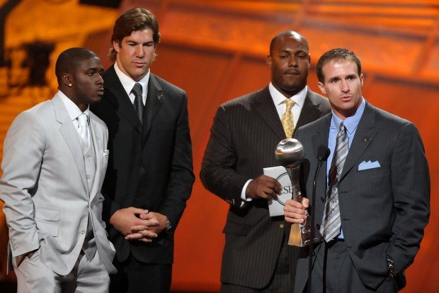 Brees speaking at ESPY awards in 2007
