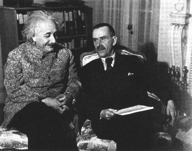 Thomas Mann with Albert Einstein Princeton 1938
