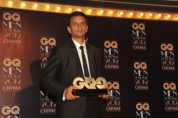 Dravid with His GQ Man of The Year 2012 Award